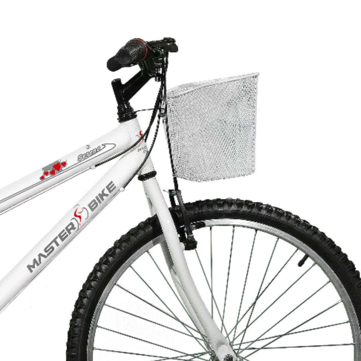 Bicicleta Master Bike Aro 26 Serena Plus 21 Marchas V-Brake Branco