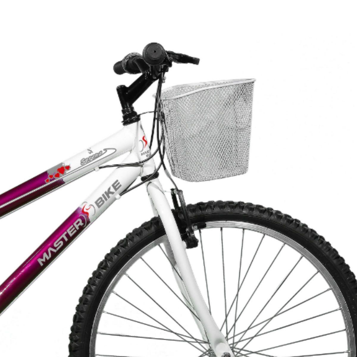 Bicicleta Master Bike Aro 26 Serena Plus 21 Marchas V-Brake Violeta/Branco