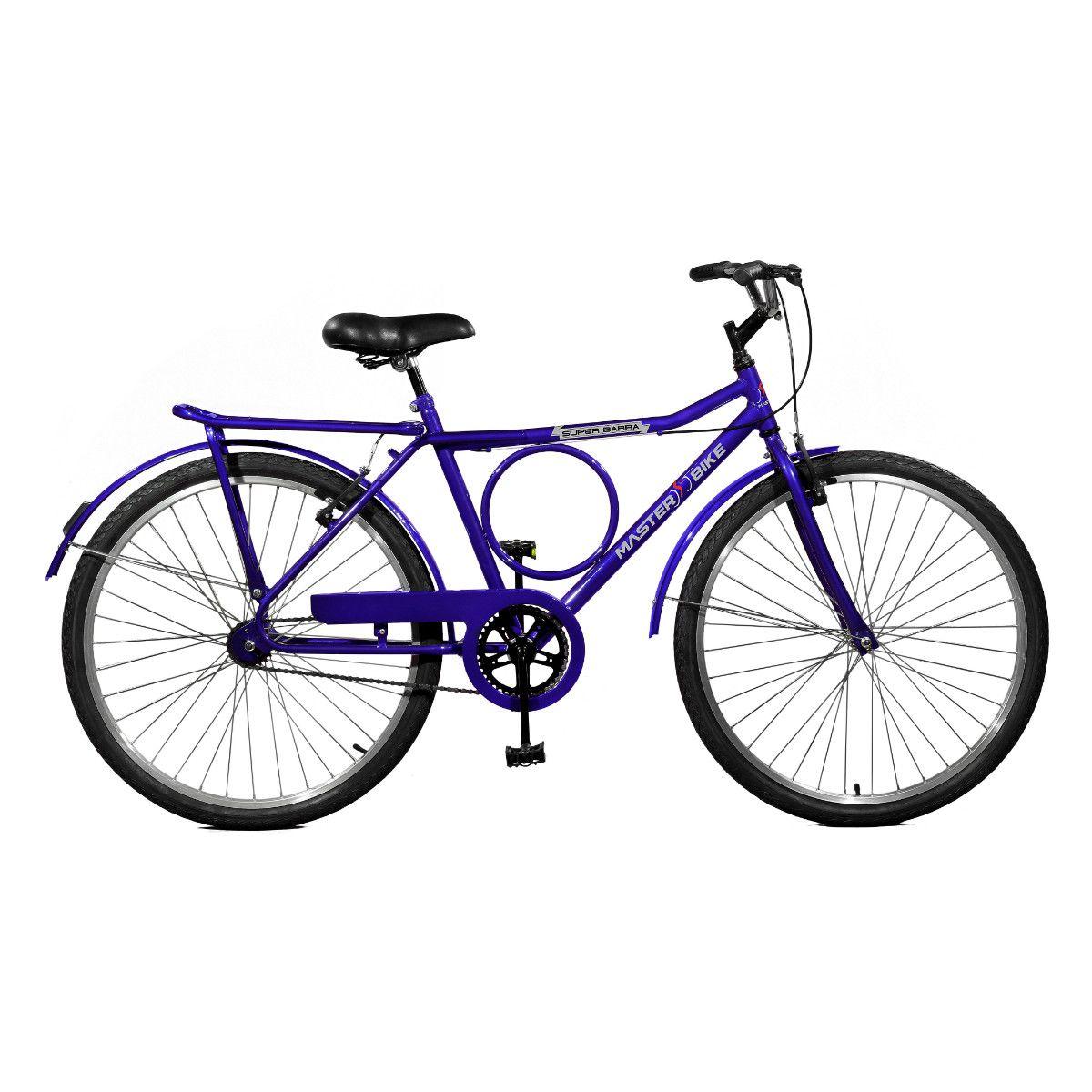 Bicicleta Master Bike Aro 26 Super Barra Freio V-Brake Azul