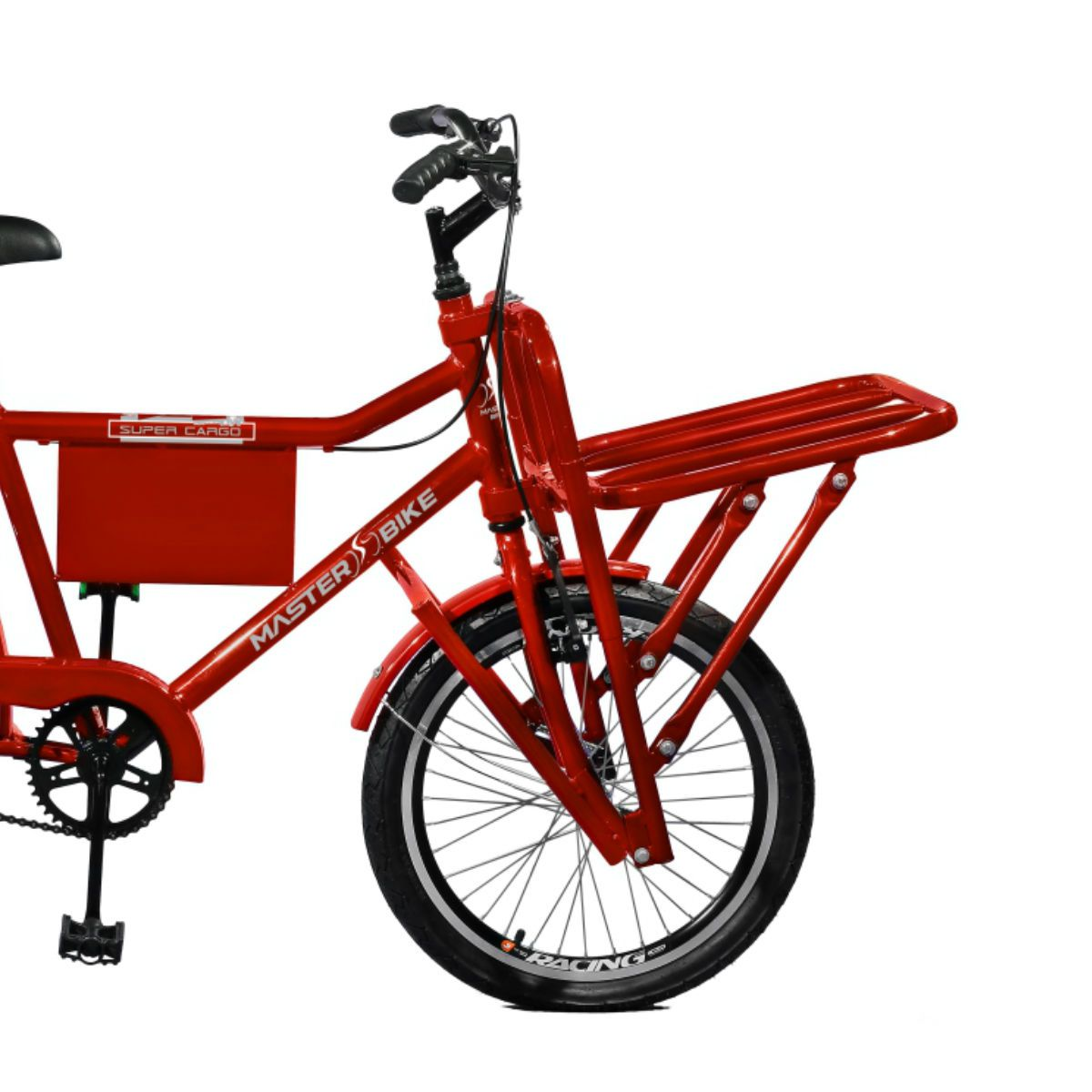 Bicicleta Master Bike Aro 26 Super Cargo Freio Manual A-36 Vermelho