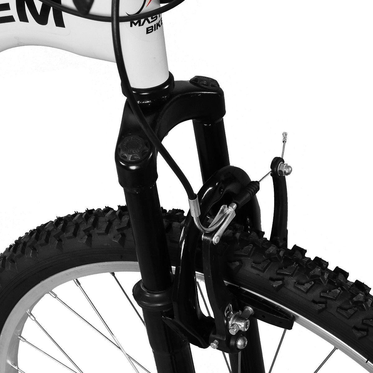 Bicicleta Master Bike Aro 26 Totem S 18 Marchas V-Brake Branco