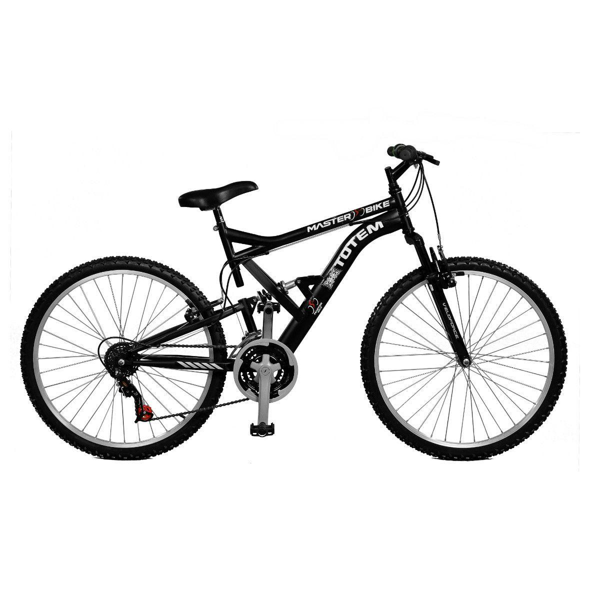 Bicicleta Master Bike Aro 26 Totem S 18 Marchas V-Brake Preto