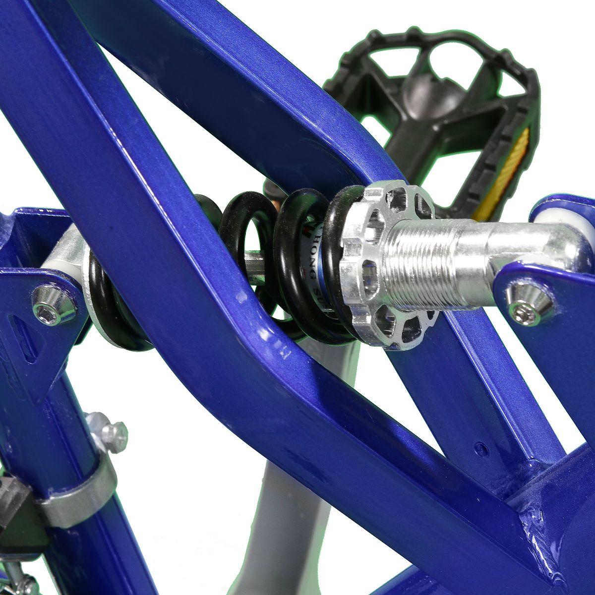 Bicicleta Master Bike Aro 26 Totem Suspensão Full Baixa A-36 21 Marchas Azul