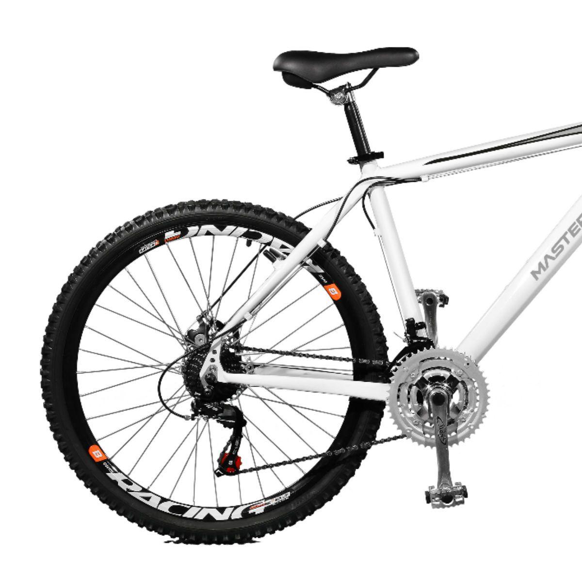 Bicicleta Master Bike Aro 26 Volcano Freio à Disco A-36 21 Marchas Branco