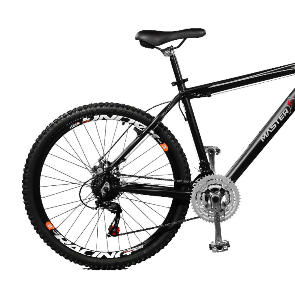 Bicicleta Master Bike Aro 26 Volcano Freio à Disco A-36 21 Marchas Preto