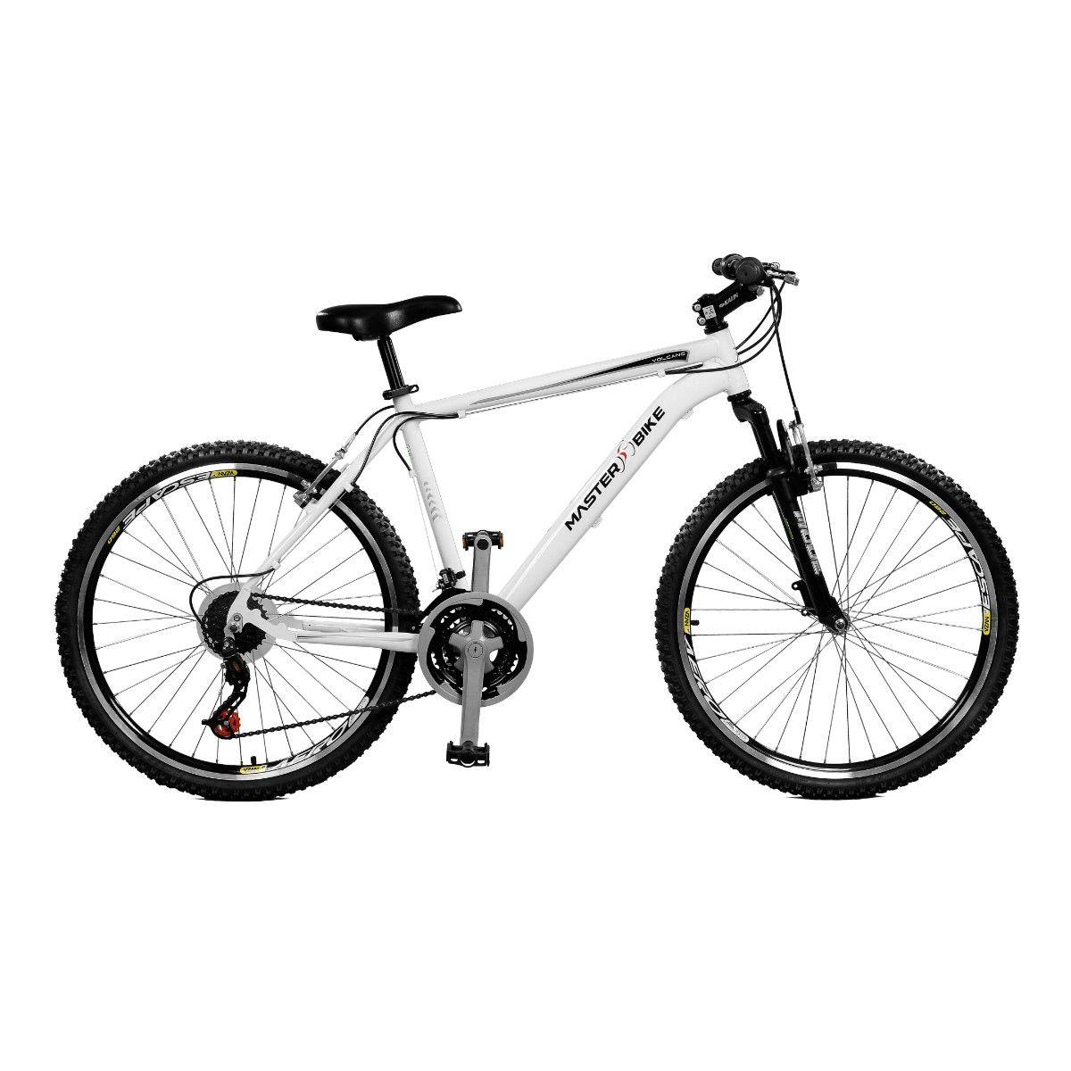Bicicleta Master Bike Aro 26 Volcano S A-36 21 Marchas Branco