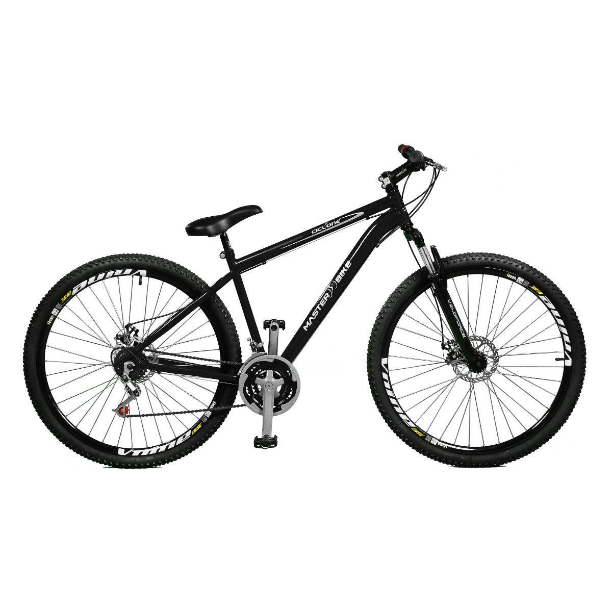 Bicicleta Master Bike Aro 29 Ciclone 21 Marchas V-Brake Preto