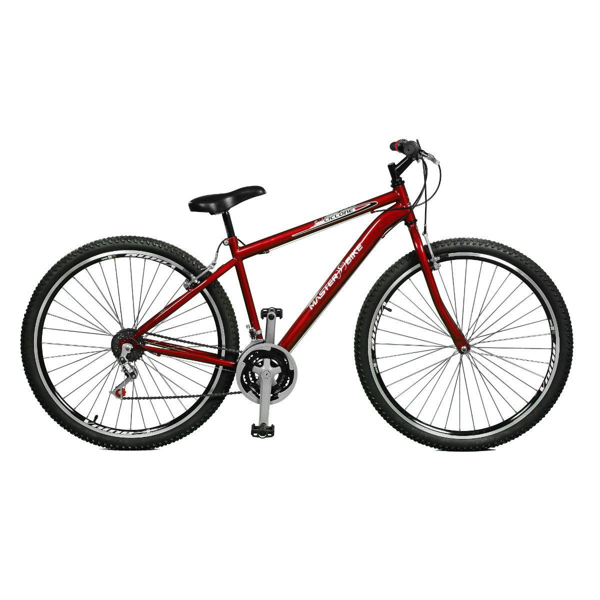 Bicicleta Master Bike Aro 29 Ciclone 21 Marchas V-Brake Vermelho