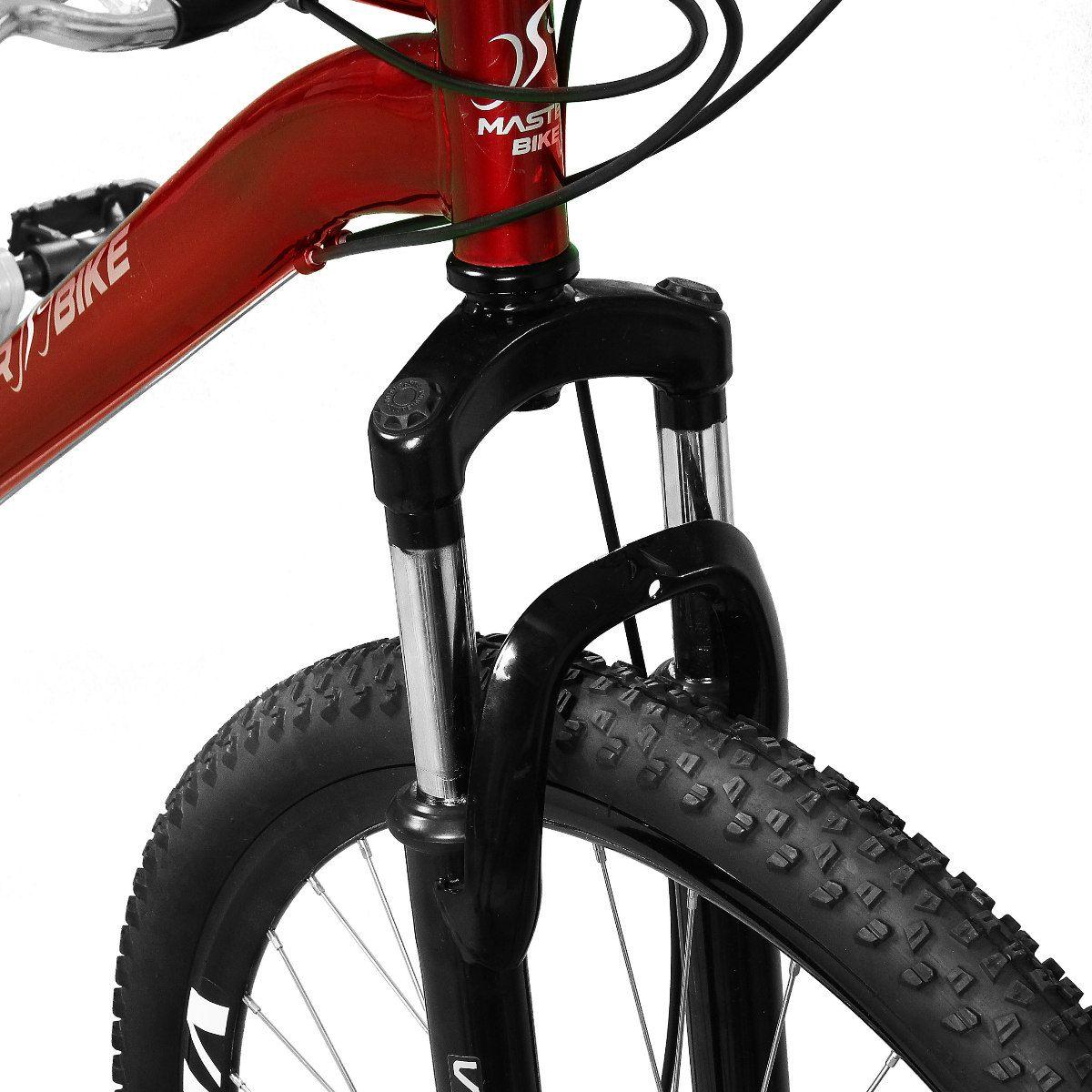 Bicicleta Master Bike Aro 29 Ciclone Plus 21 Marchas Freio à Disco Vermelho