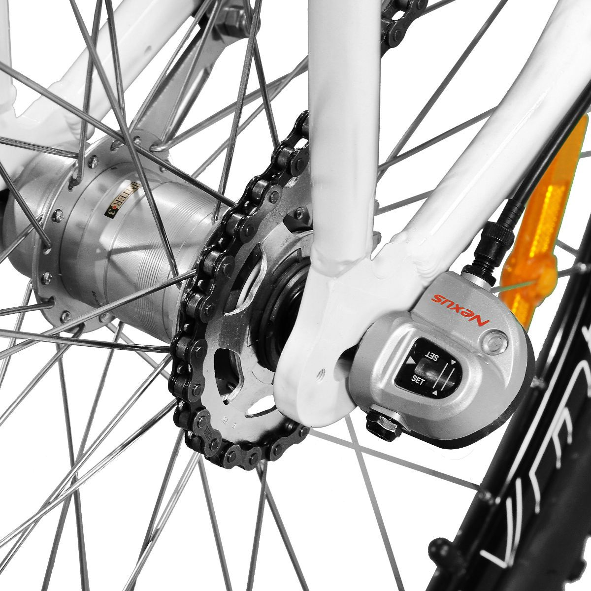 Bicicleta Master Bike Aro 29 Urbis Freio à Disco 3 V Nexus C/ Cesta Branco