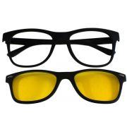Armação para Óculos Díspar D2014 Clip On 1 Lente - Preto