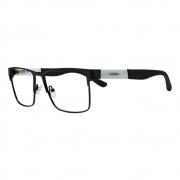 Armação para Óculos Díspar D2433 Quadrada - Preto/Branco