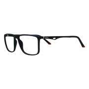 Armação para Óculos Díspar D2435 Quadrada - Preto/Vermelho