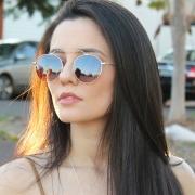 Óculos De Sol Díspar D2279 Redondo - Dourado/Dourado