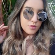Óculos De Sol Díspar D2279 Redondo - Dourado/Prata