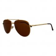 Óculos De Sol Díspar D2315 Aviador Lentes Polarizadas - Dourado