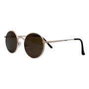 Óculos De Sol Díspar D2464 Redondo - Dourado/Marrom