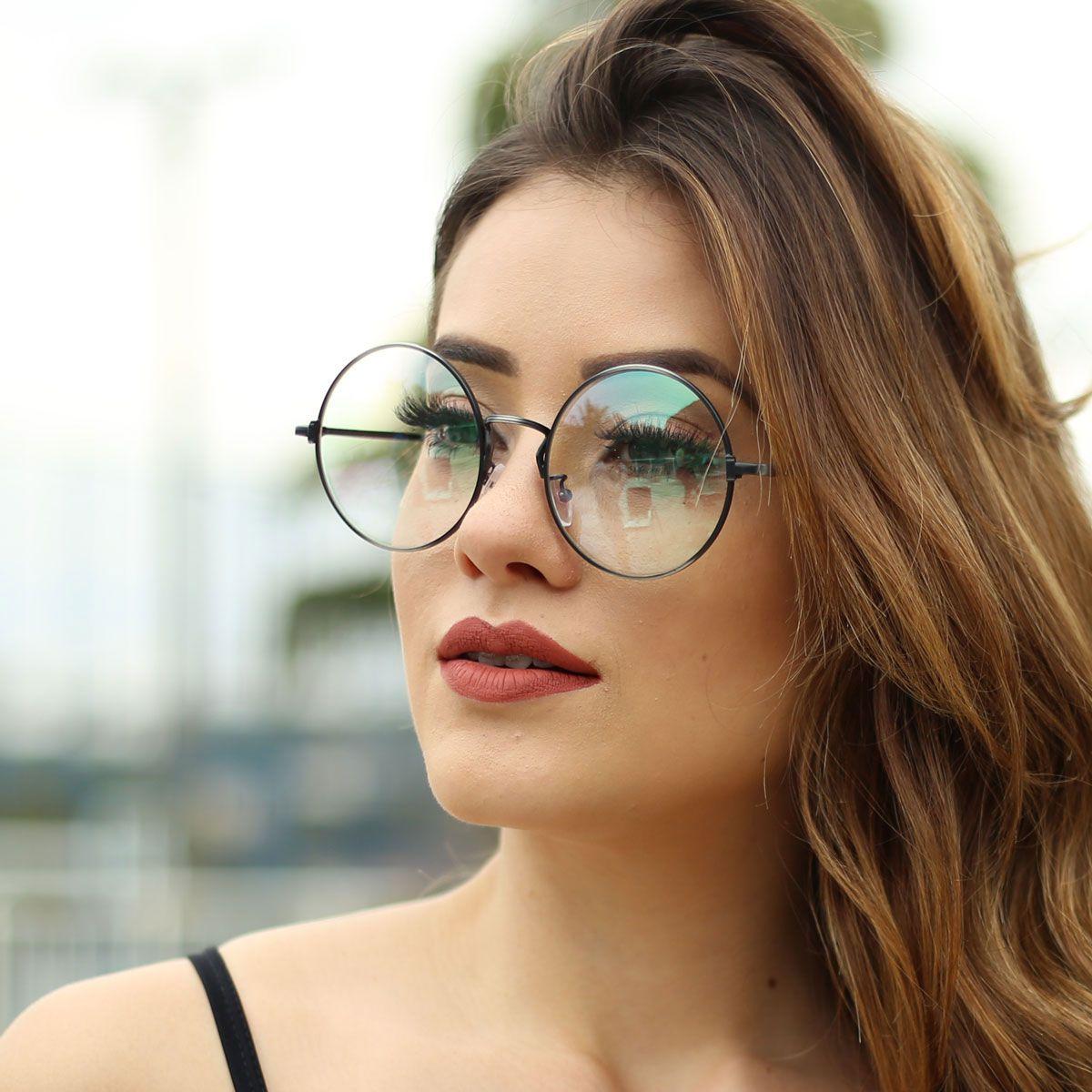 ... Armação para Óculos Díspar D1881 Redondo Grande Chumbo - Díspar Style  ... 48fa4cf1a6
