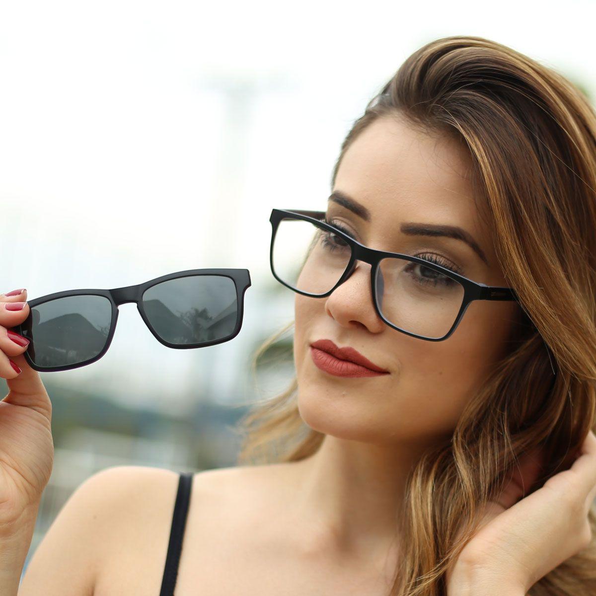 ... Armação para Óculos Díspar D1953 Clip On 1 Lente - Preto - Díspar Style  ... 62f0fc81ae