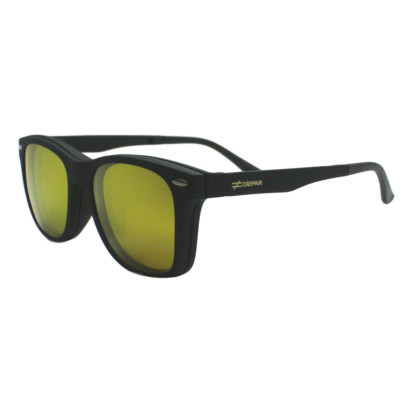 ... Armação para Óculos Díspar D1965 Clip On 2 Lentes - Prata - Díspar Style  ... 9294d09118