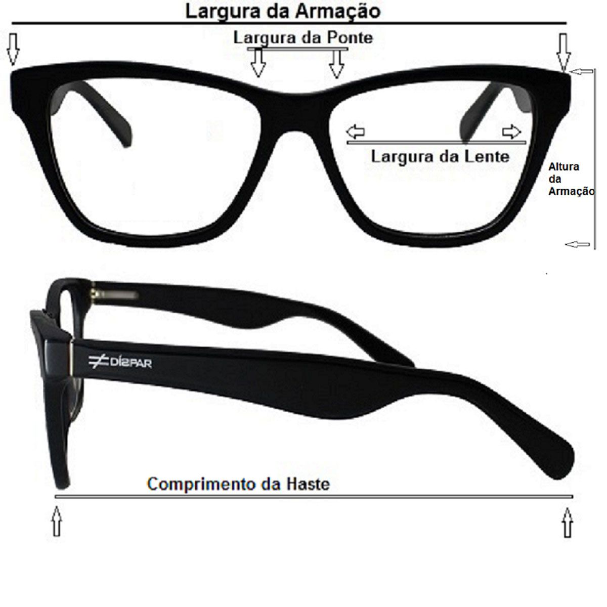 Armação para Óculos Díspar D2111 - Demi