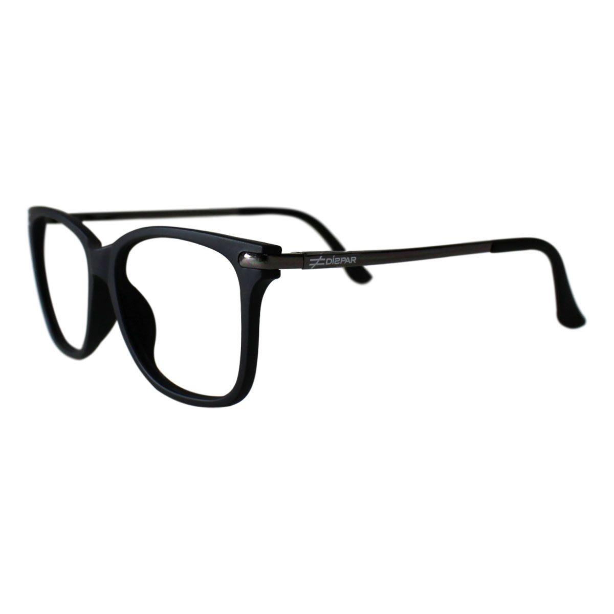Armação para Óculos Díspar D2212 - Preto Fosco