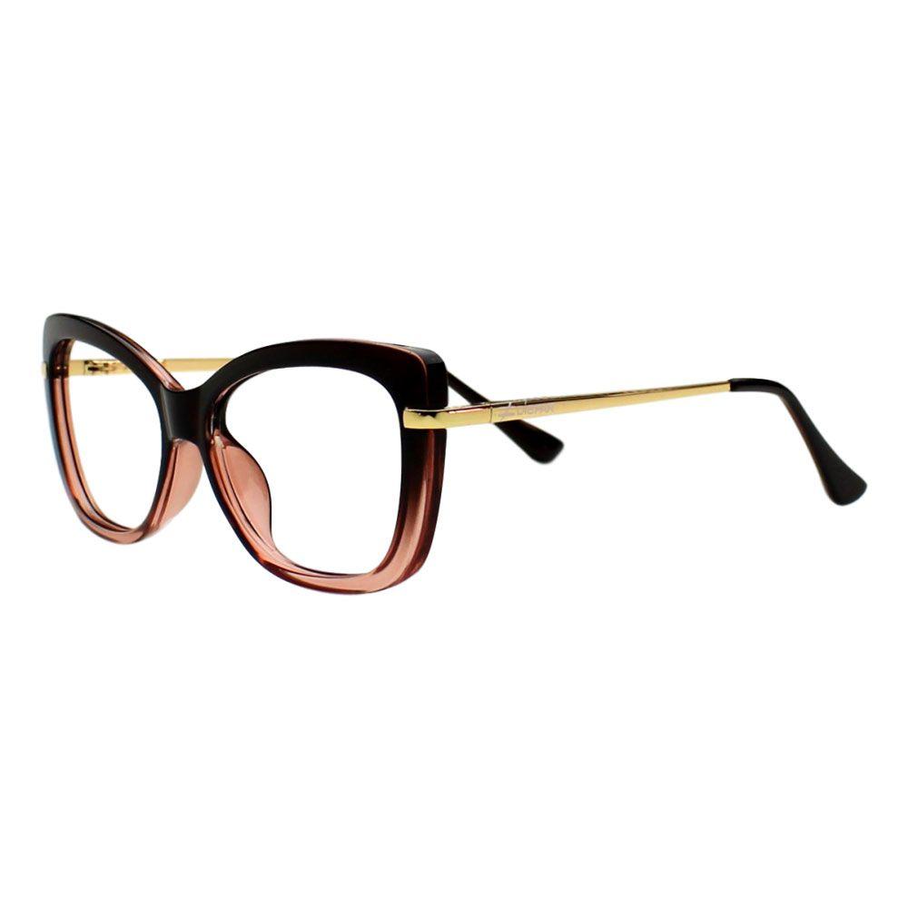 Armação para Óculos Díspar D2246 Borboleta TR90 - Marrom