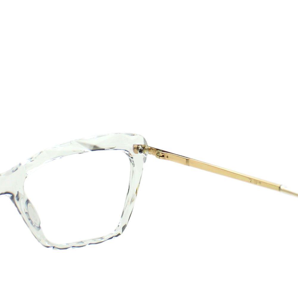 Armação para Óculos Díspar D2266 Borboleta TR90 - Transparente