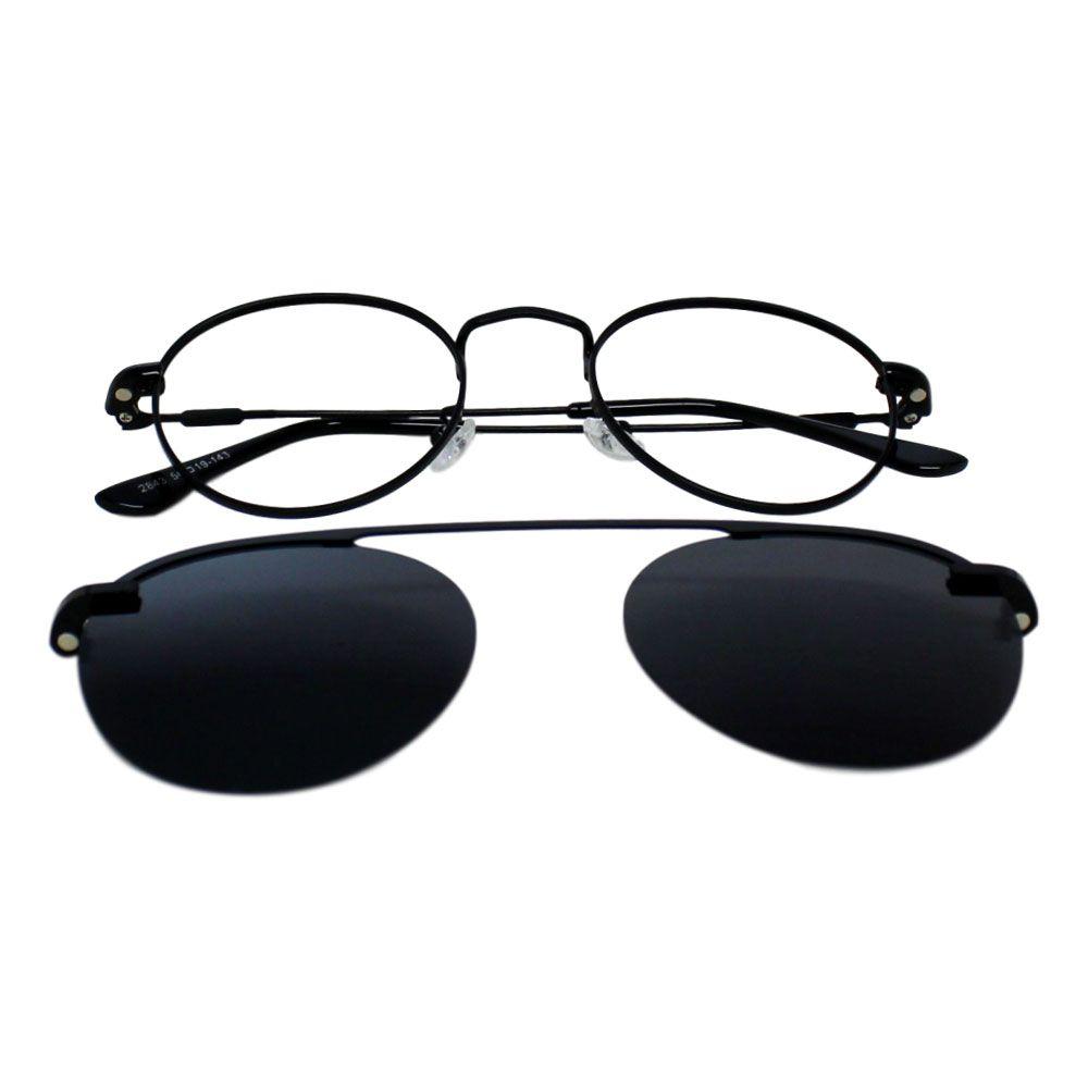 Armação para Óculos Díspar D2286 Clip On 1 Lente - Preto