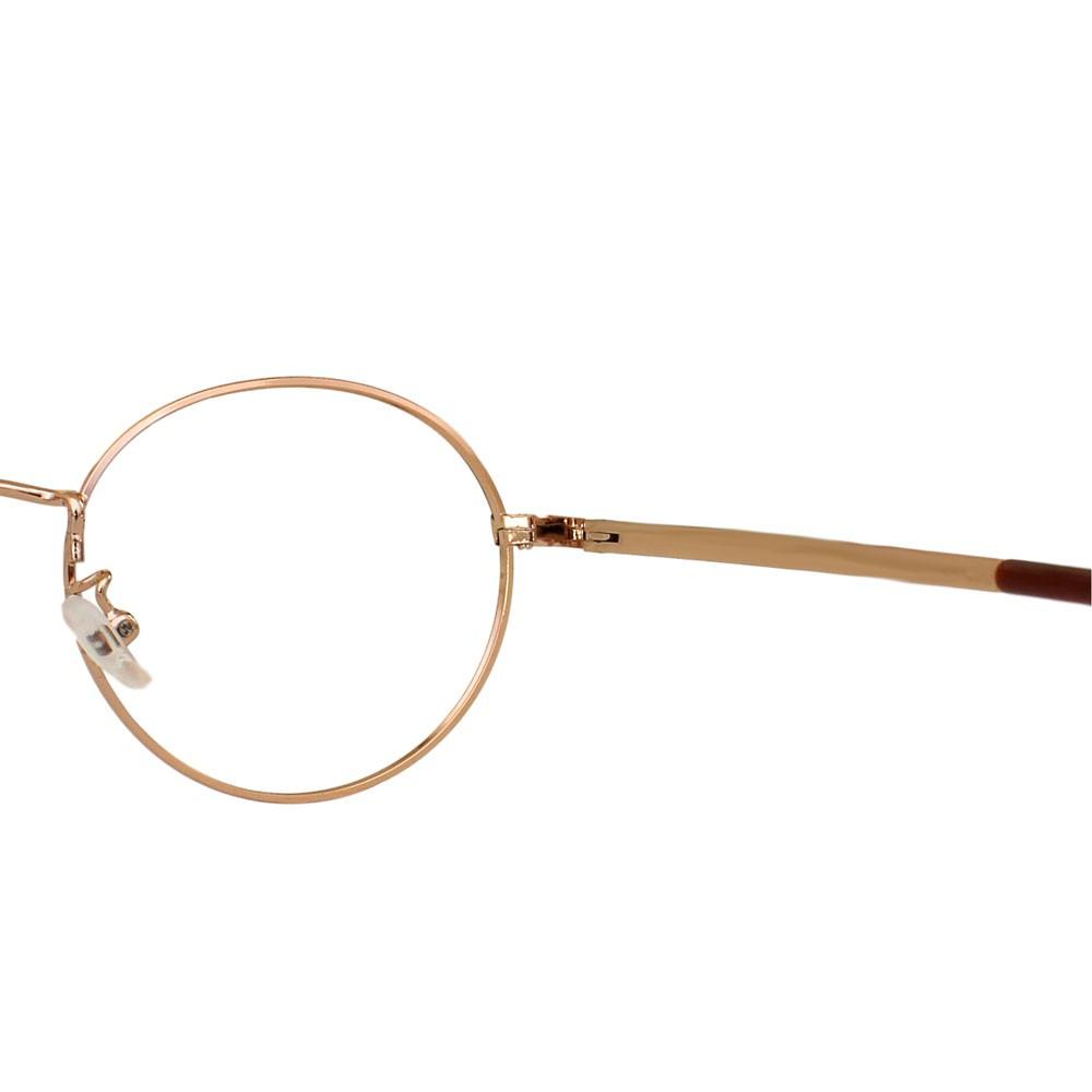Armação para Óculos Díspar D2310 Redondo - Dourado/Marrom