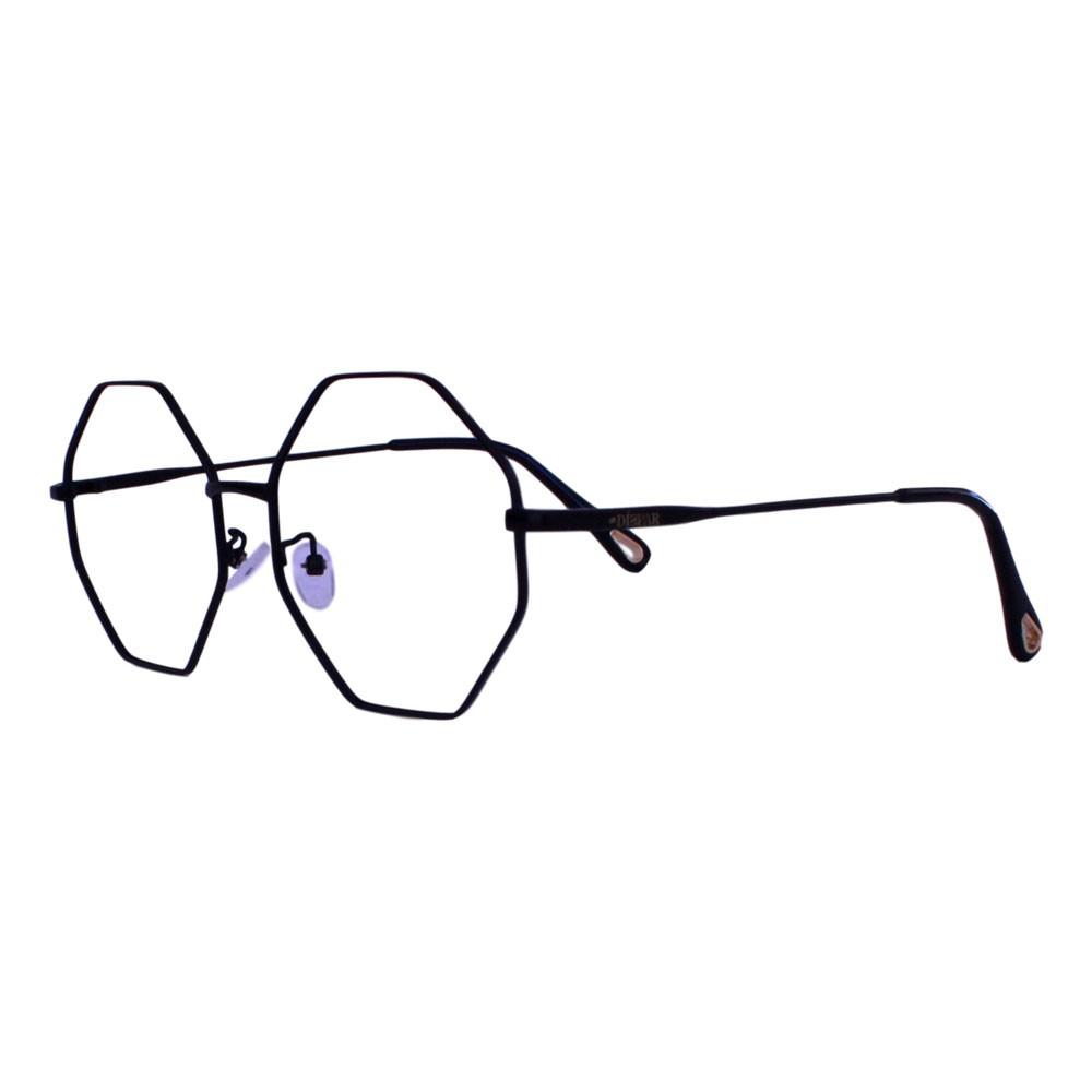 Armação para Óculos Díspar D2318 Octagonal - Preto