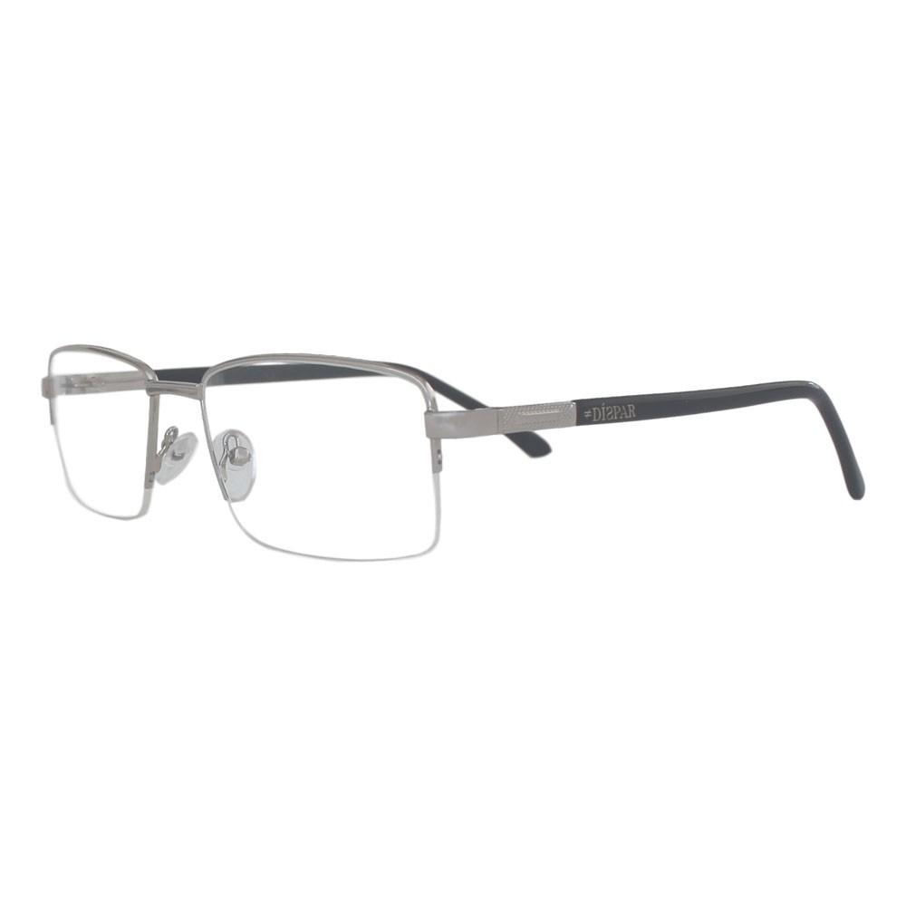 Armação para Óculos Díspar D2324 Retangular - Prata