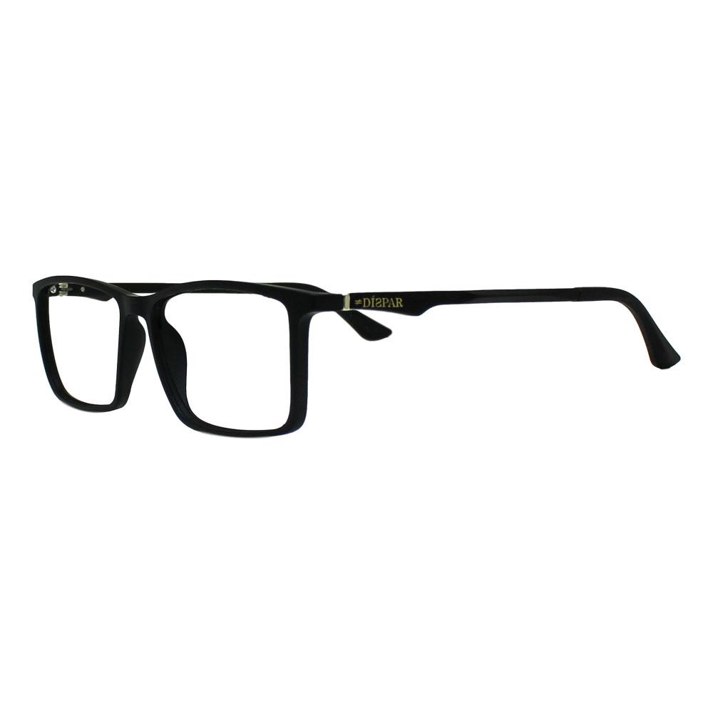 Armação para Óculos Díspar D2396 Retangular - Preto Fosco