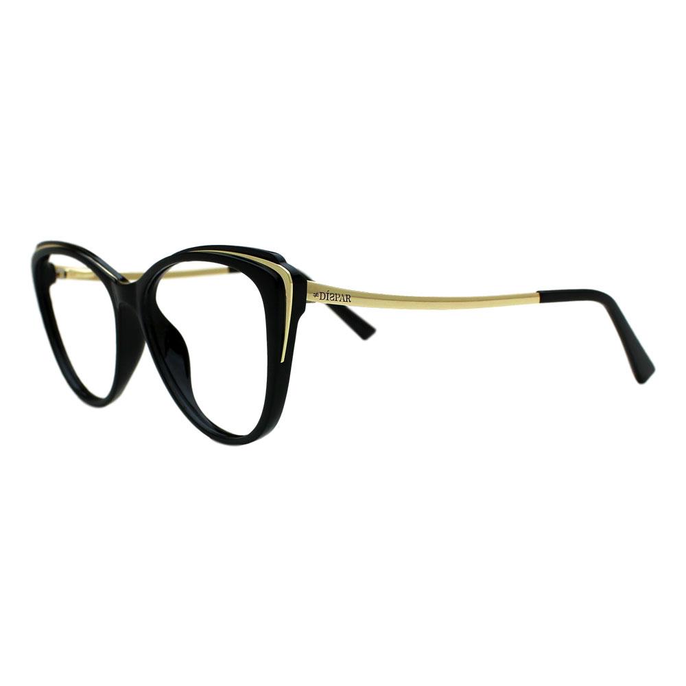 Armação para Óculos Díspar D2398 Borboleta - Preto