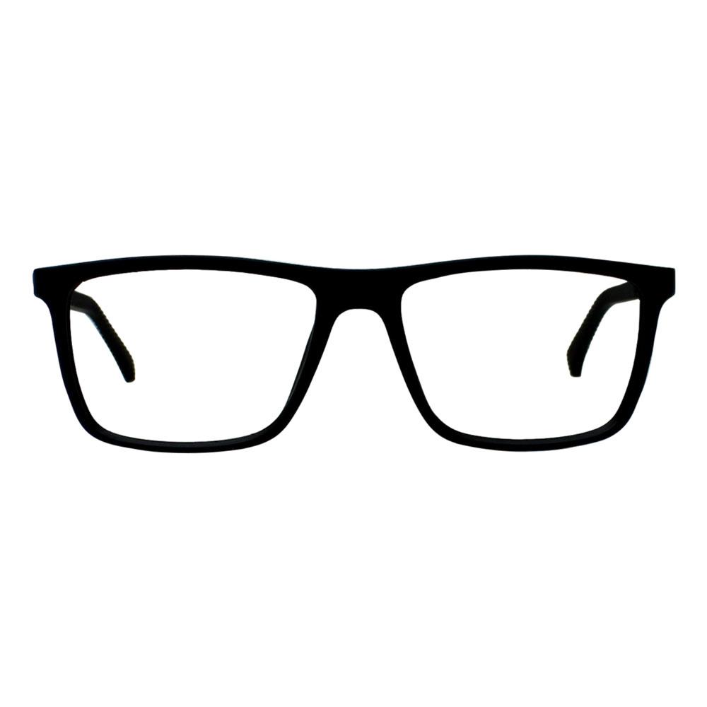 Armação para Óculos Díspar D2429 Retangular - Preto