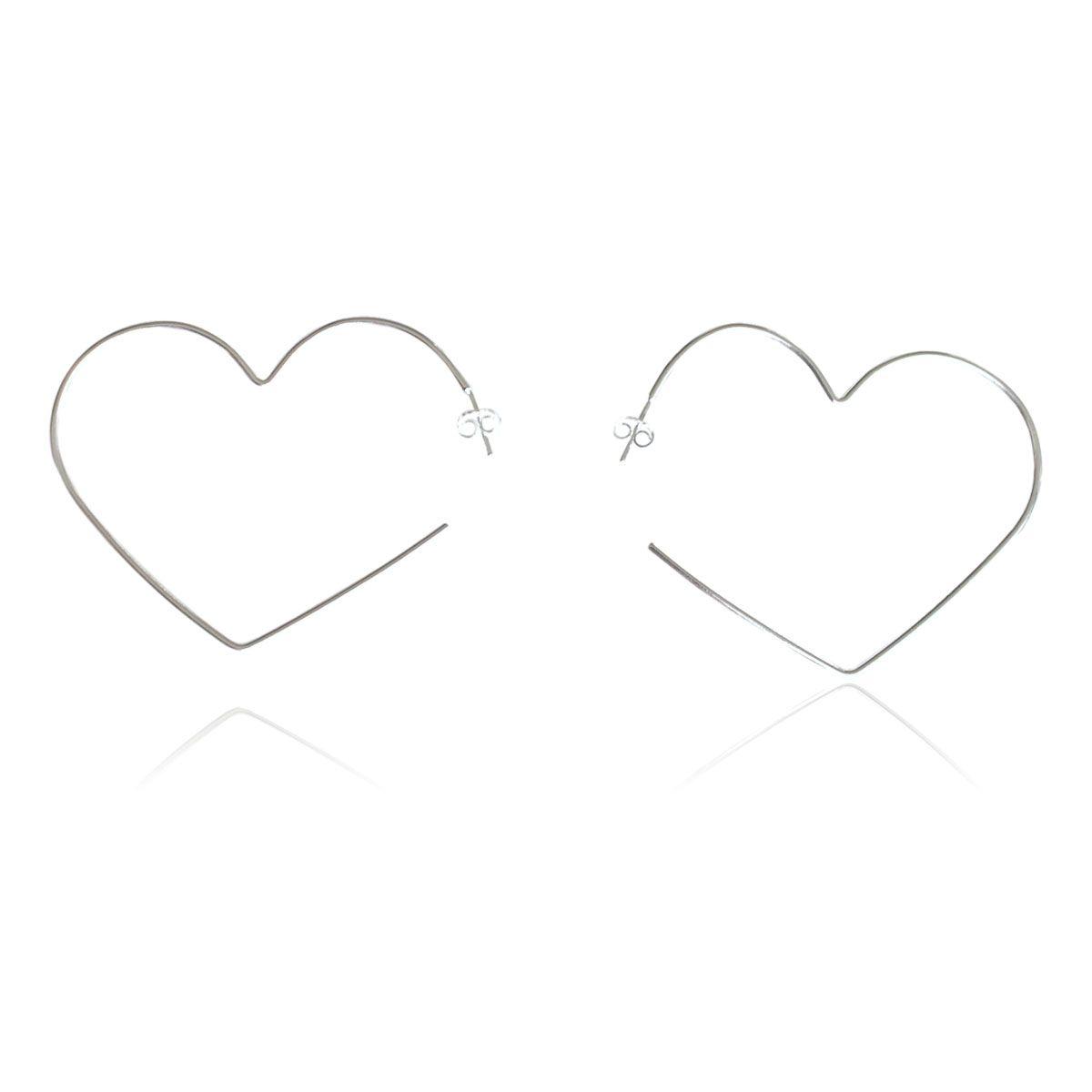 Brinco Díspar 2165 Coração Pequeno - Prata