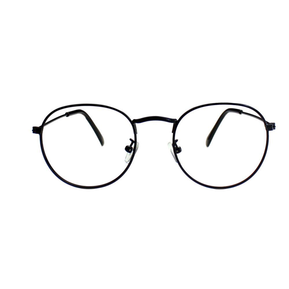 Armação para Óculos Díspar D1647 Redondo Preto