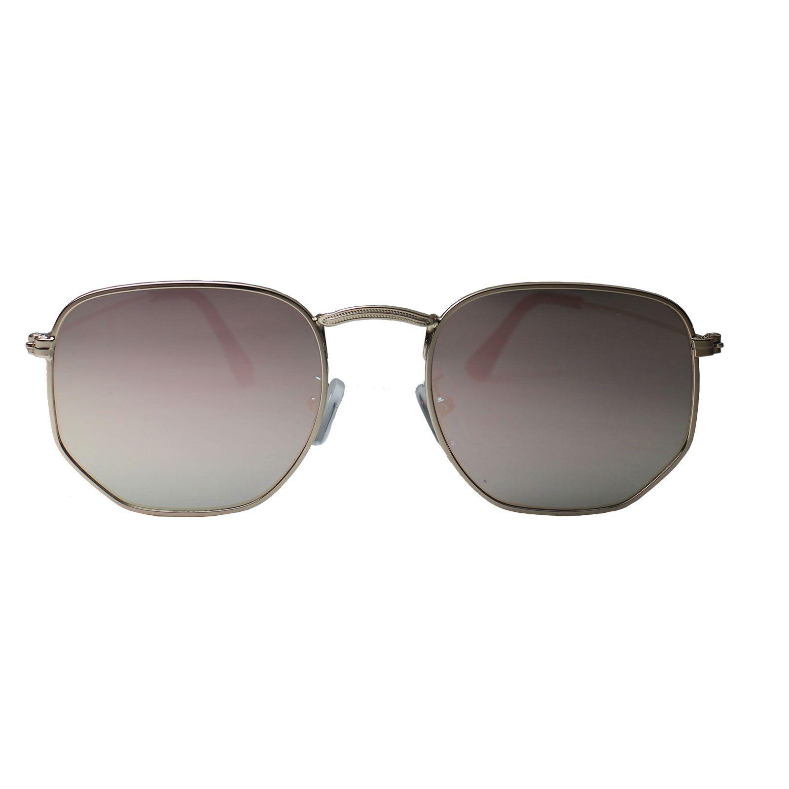 Óculos De Sol Díspar D1625 Hexagonal Lentes Espelhadas Flat Rosa