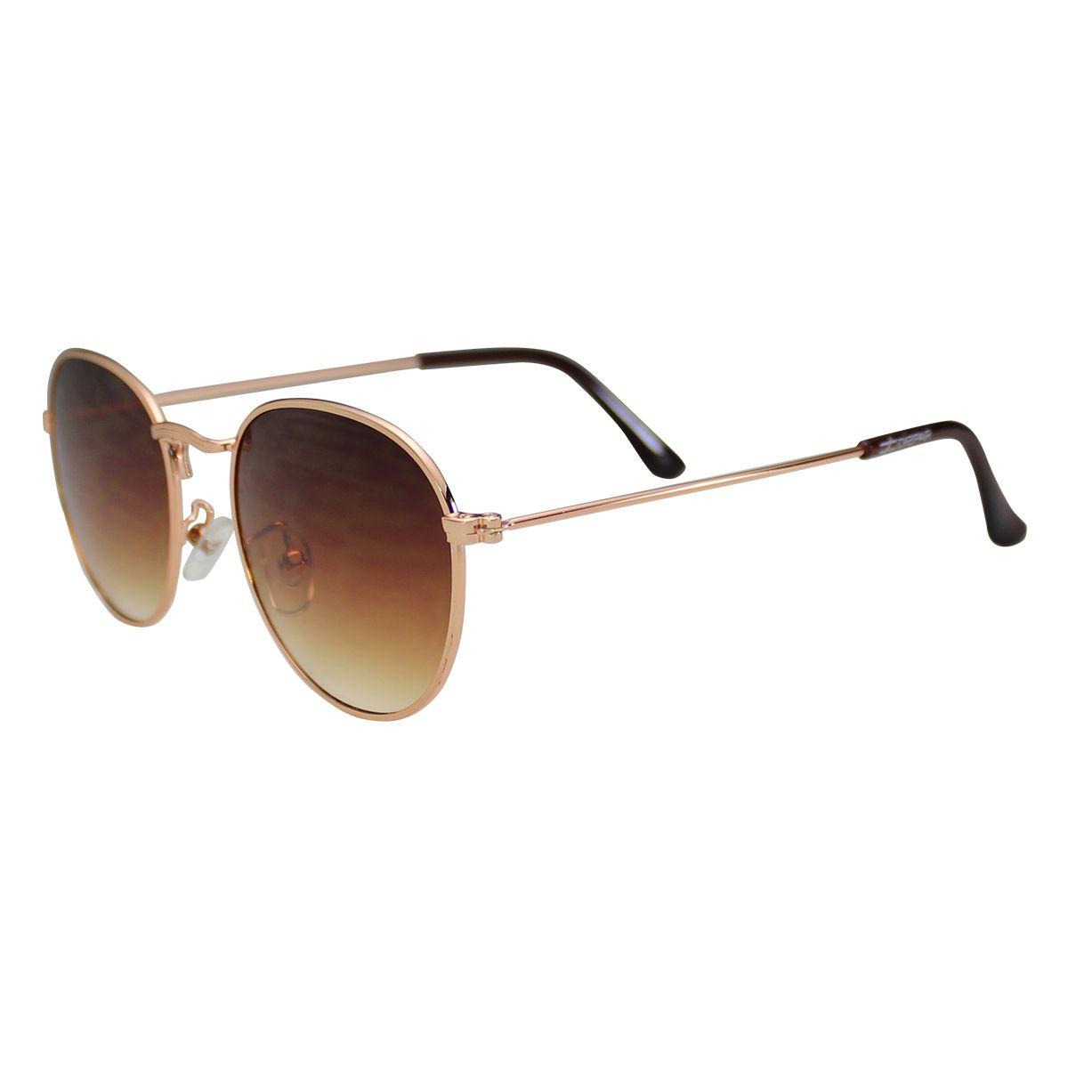 Óculos De Sol Díspar D1626 Redondo - Dourado