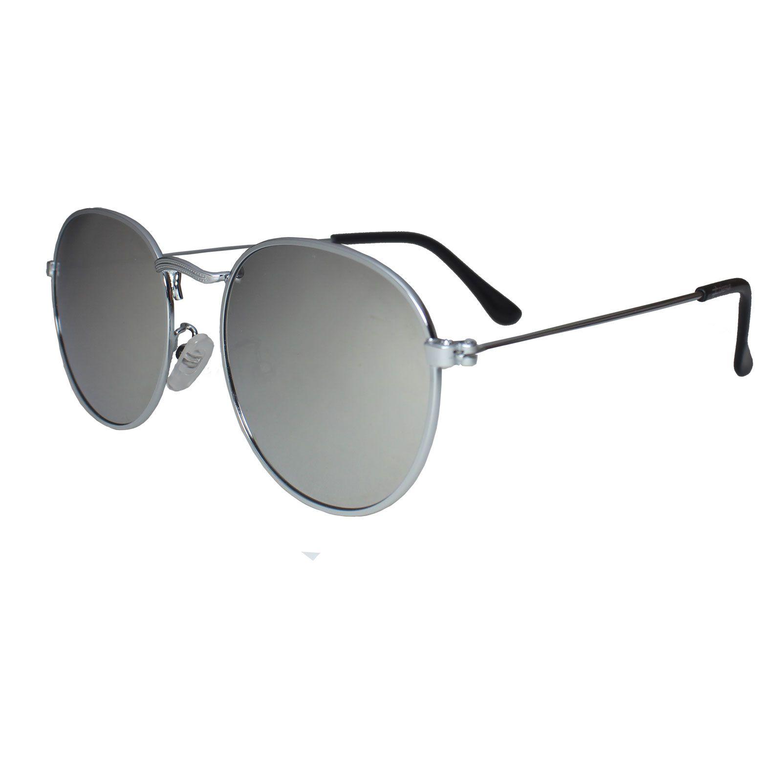 Óculos De Sol Díspar D1626 Redondo Lentes Espelhadas Prata