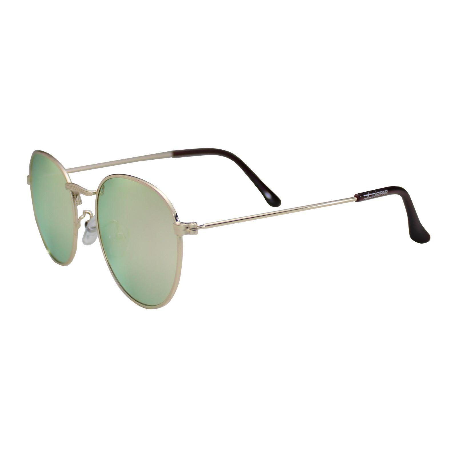 Óculos de Sol Díspar D1626 Redondo Lentes Espelhadas Rosa