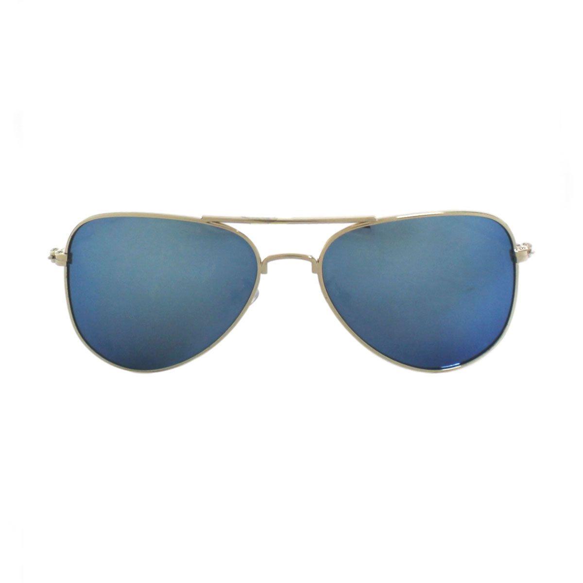 Óculos De Sol Díspar D1629 Aviador Azul Espelhado