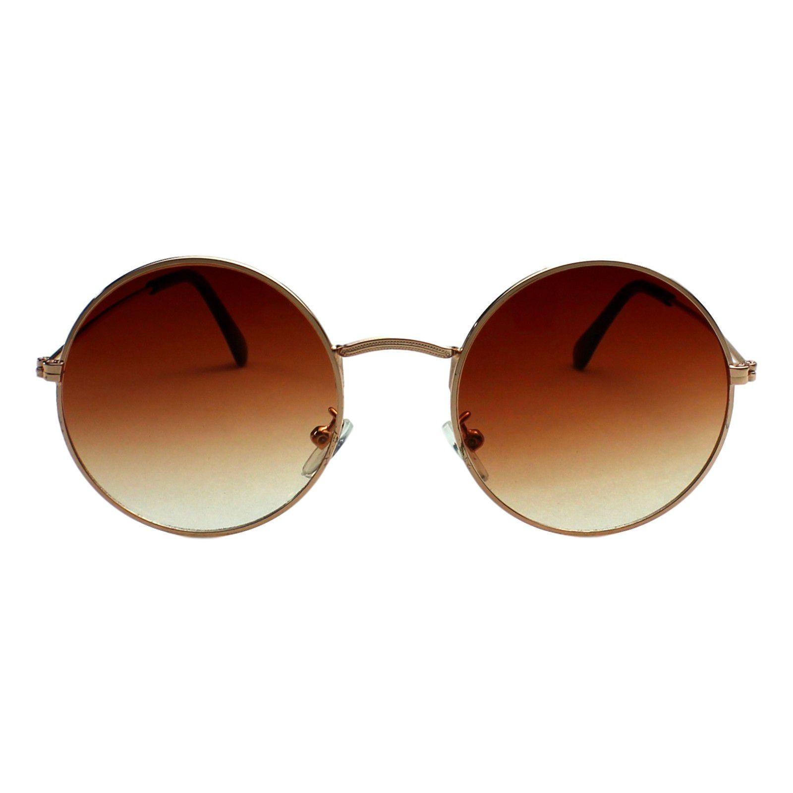 Óculos De Sol Díspar D1653 Redondo Grande Dourado