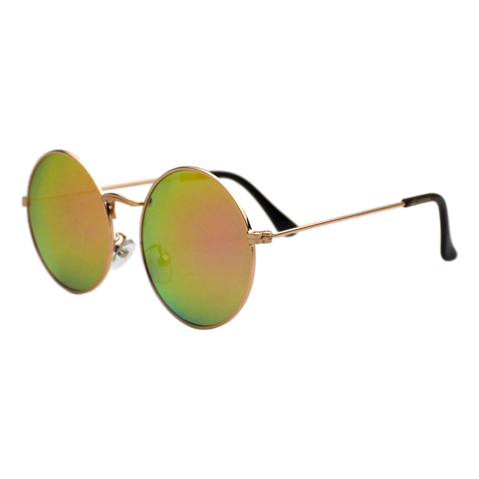 Óculos de Sol Díspar D1653 Lentes Espelhadas Redondo Grande Lilas