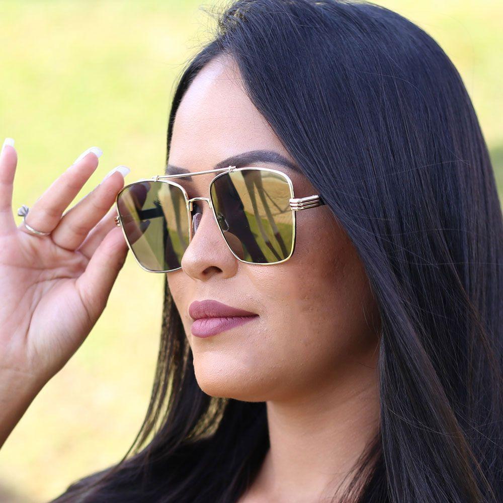 Óculos De Sol Díspar D1846 Dourado