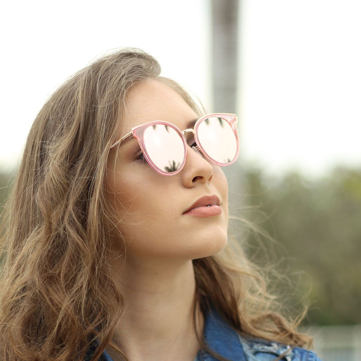 8e7eee1773786 ... Óculos De Sol Díspar D1864 Rosa Espelhado ...