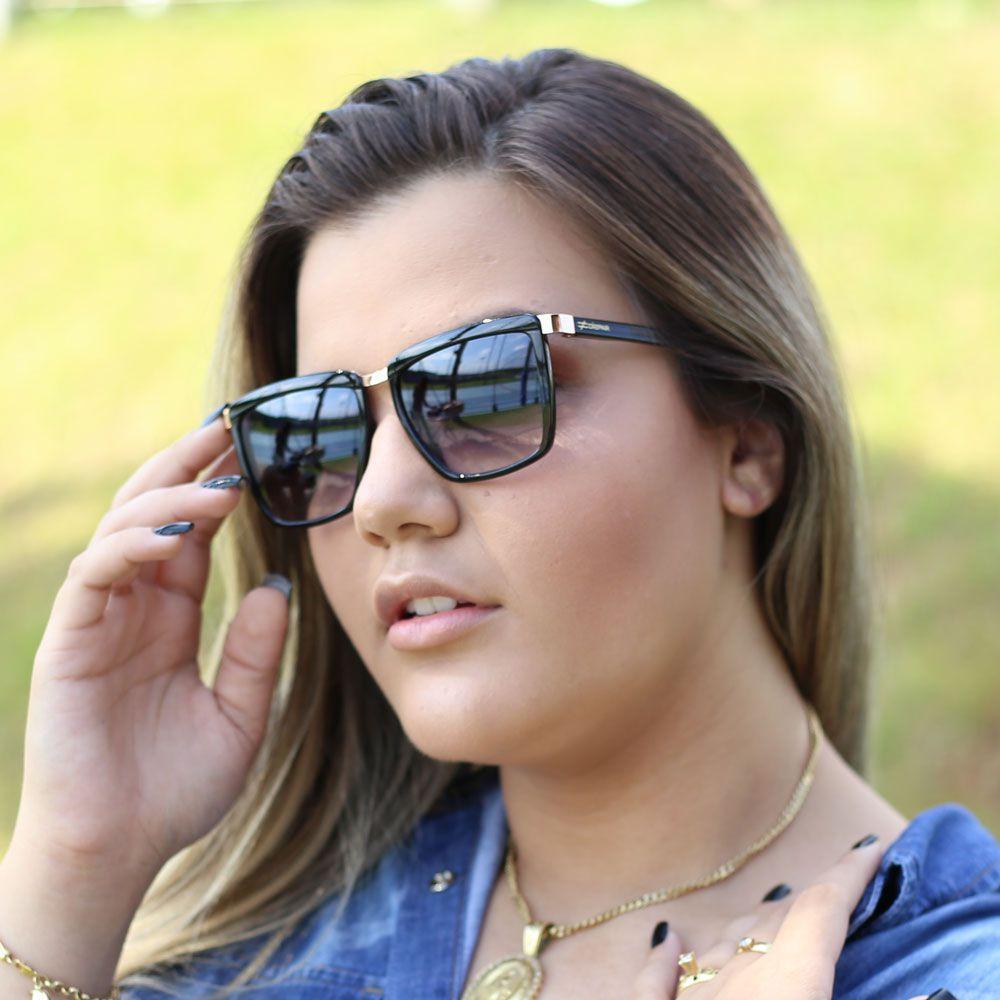 Óculos De Sol Díspar D1900 Preto - Preto