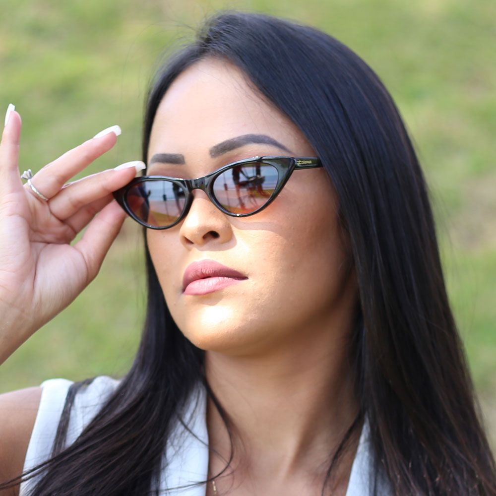 Óculos De Sol Díspar D1939 Mini - Marrom
