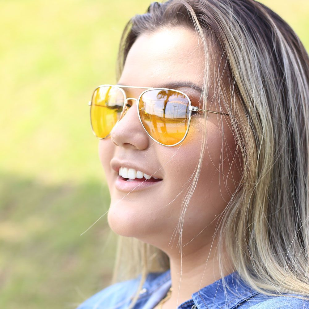 Óculos De Sol Díspar D1970 Amarelo