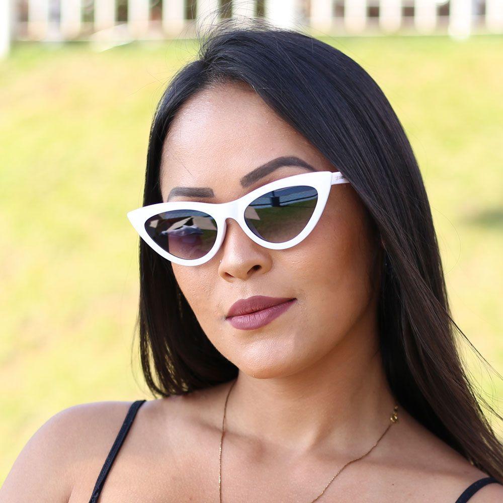 Óculos De Sol Díspar D2001 Gatinho- Branco